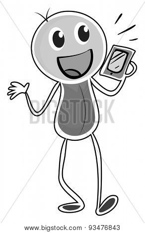 Happy person talking on the mobile phone