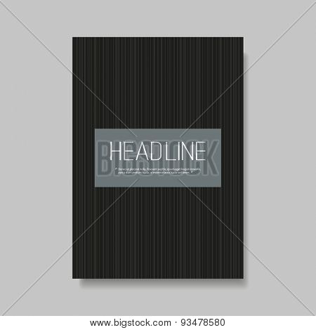 Flyer or Cover Design with Striped Background