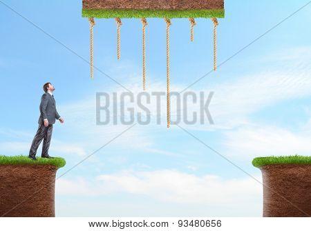 Businessman measures up his chances