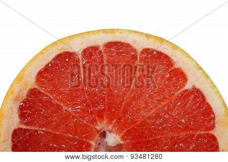 Grapefruit Fresh Sliced And Isolated