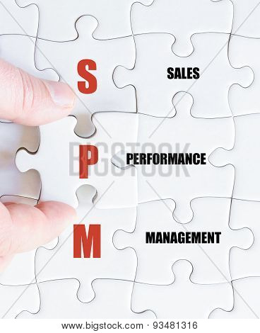 Last Puzzle Piece With Business Acronym Spm