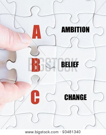 Last Puzzle Piece With Business Acronym Abc