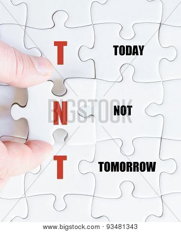 Last Puzzle Piece With Business Acronym Tnt