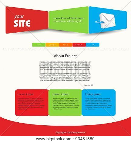 web design vector blue template easy editable