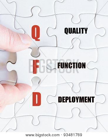 Last Puzzle Piece With Business Acronym Qfd