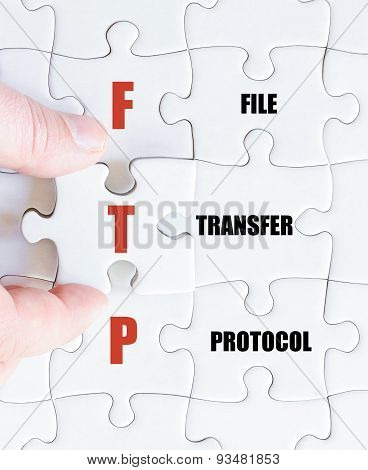 Last Puzzle Piece With Business Acronym Ftp