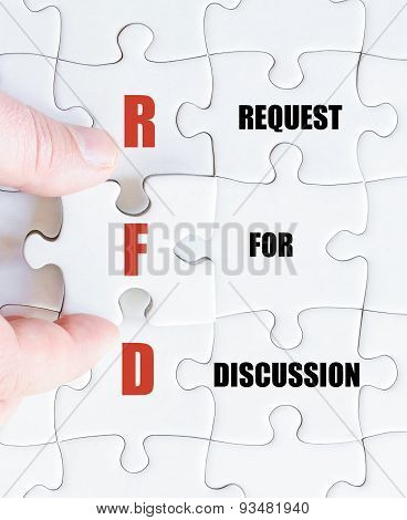 Last Puzzle Piece With Business Acronym Rfd