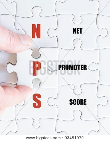 Last Puzzle Piece With Business Acronym Nps
