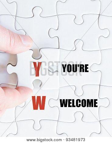 Last Puzzle Piece With Business Acronym Yw