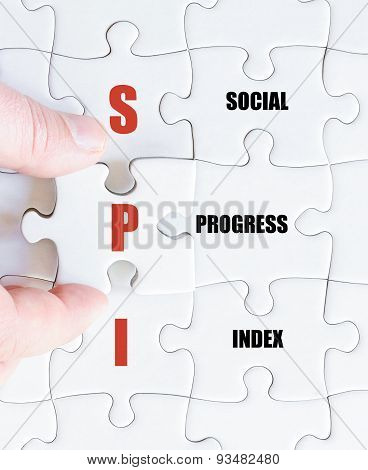 Last Puzzle Piece With Business Acronym Spi
