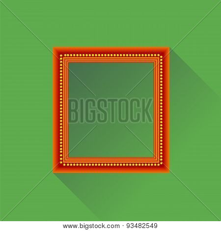 Orange Wooden Frame