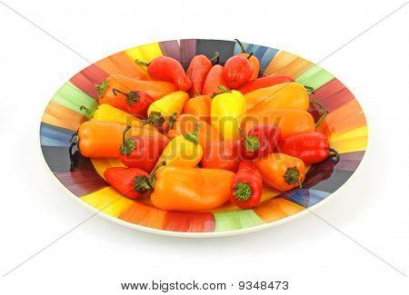 Festive Plate Sweet Mini Peppers