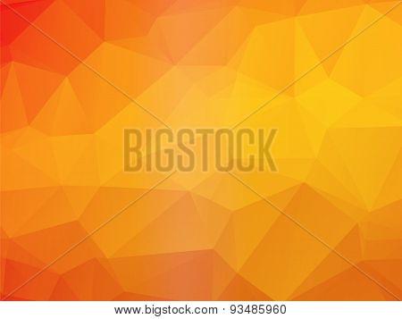Beautiful Yellow Orange Triangular Background