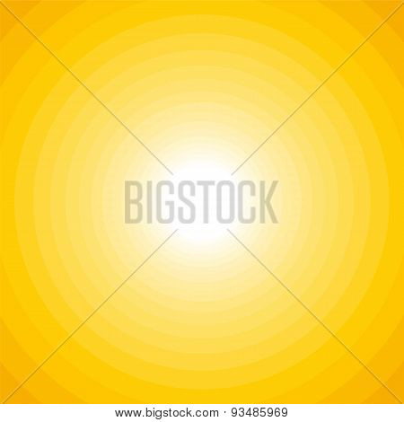 Simple Yellow Circle Background With Bright Middle