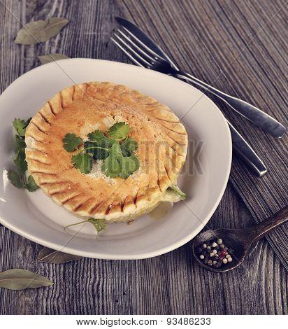Chicken Pot Pie In A Plate