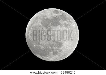Full moon shot at 1200mm focal length