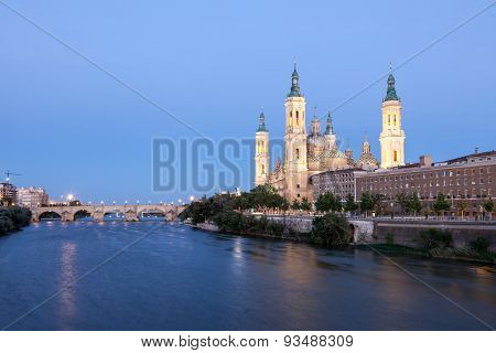 Pilar Cathedral In Zaragoza, Spain