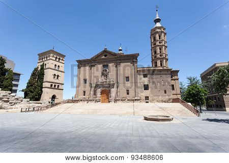 Ancient Church In Zaragoza, Spain
