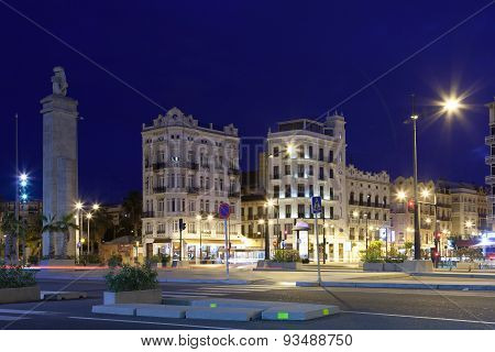 Valencia At Night, Spain