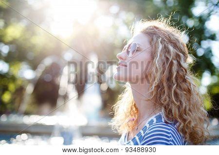 Young Readhead Woman Relaxing