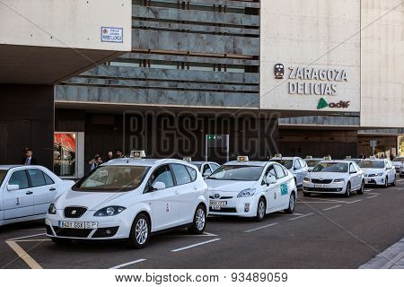 Taxis At The Train Station