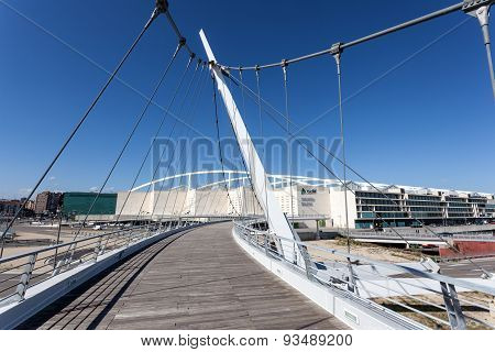 Pedestrian Bridge In Zaragoza