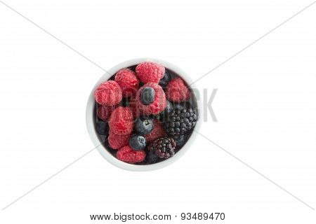 Ramekin Of Fresh Fall Or Autumn Berries