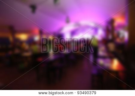 Light And Color Of Blur Image In Pub.