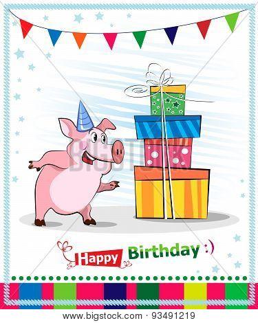 Happy Birthday Card Design