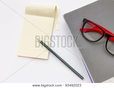 Blank Note Paper Isolated Background.