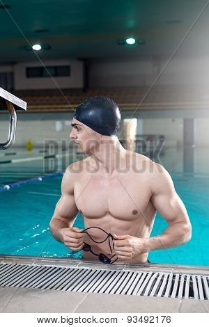 Professional Swimmer After The Training