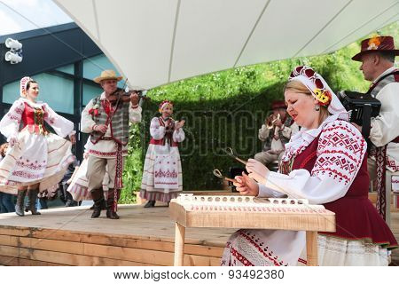 MILAN, ITALY - May 26: Belarus pavilion at Expo, universal exposition on the theme of food on May 26, 2015 in Milan, Italy.