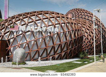 MILAN, ITALY - May 26: Malasia pavilion at Expo, universal exposition on the theme of food on May 26, 2015 in Milan, Italy.