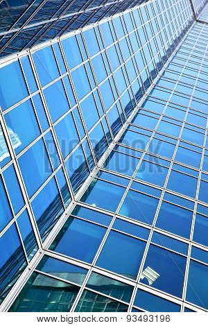 Wall of office building - architectural and business background