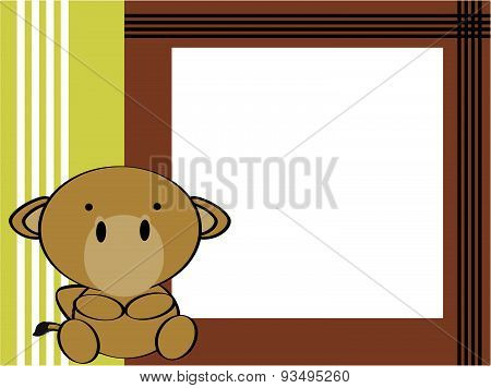 cute baby camel background frame