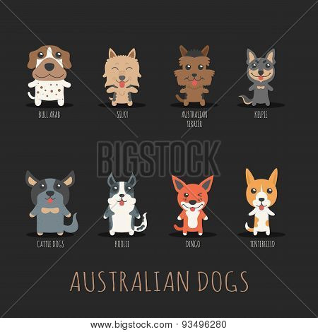 Set Of Australian Dogs