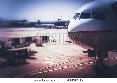Airplane And The Airport