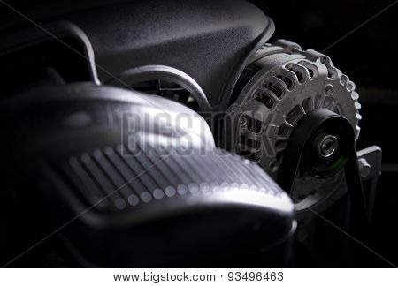 Car Alternator Closeup