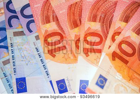 Euro Bills European Currency