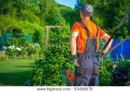 Gardener Ready To Work