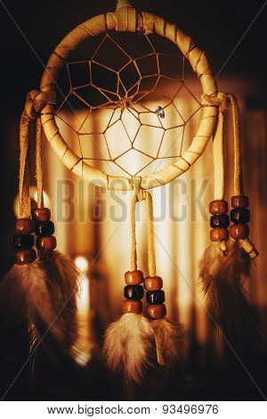 Native American Dreamcatcher Closeup