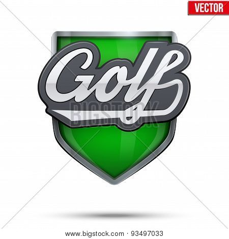 Premium symbol of Golf label