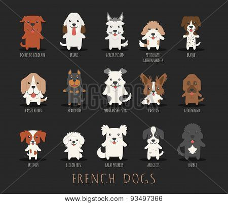 Set Of French Dogs