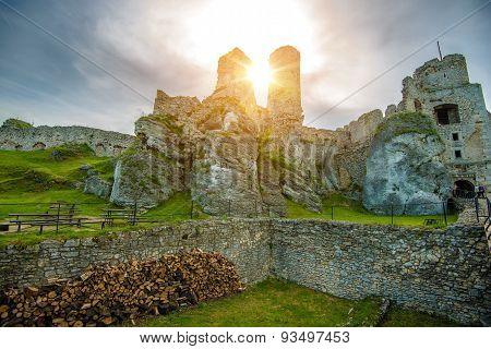 The Ogrodzieniec Castle