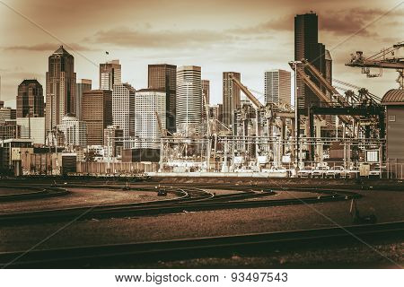 Vintage Port Of Seattle