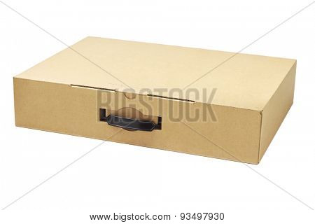 Laptop Computer Packaging Box on White Background