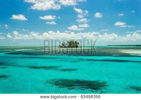Isolated Island In The Caribbean