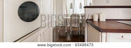 Beige And Brown Retro Interior