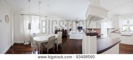 Elegant Interior In Retro Design