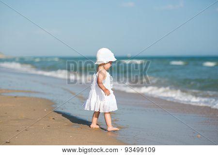 baby on the sea beach